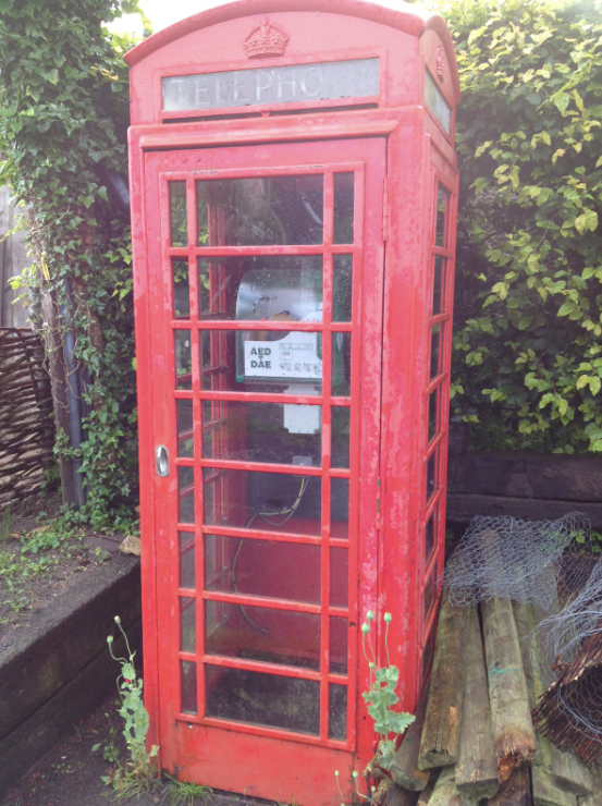 British Telecom K6 Red Telephone Box with Defibrillator