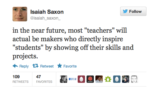 Isaiah Saxon On Makers As Teachers