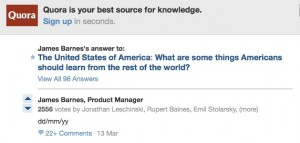 Shortest Quora Answer With Most Upvotes